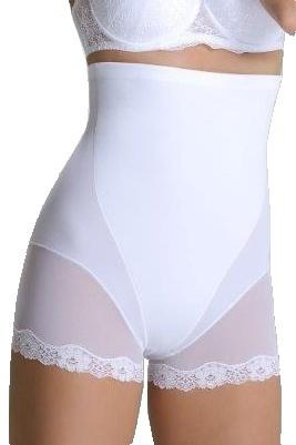 Stahovací kalhotky Violetta bílé - XL