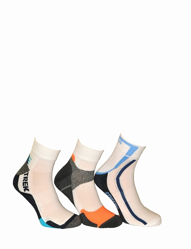 Pánské ponožky Bratex On Sport 672 - 44/46 - bílá