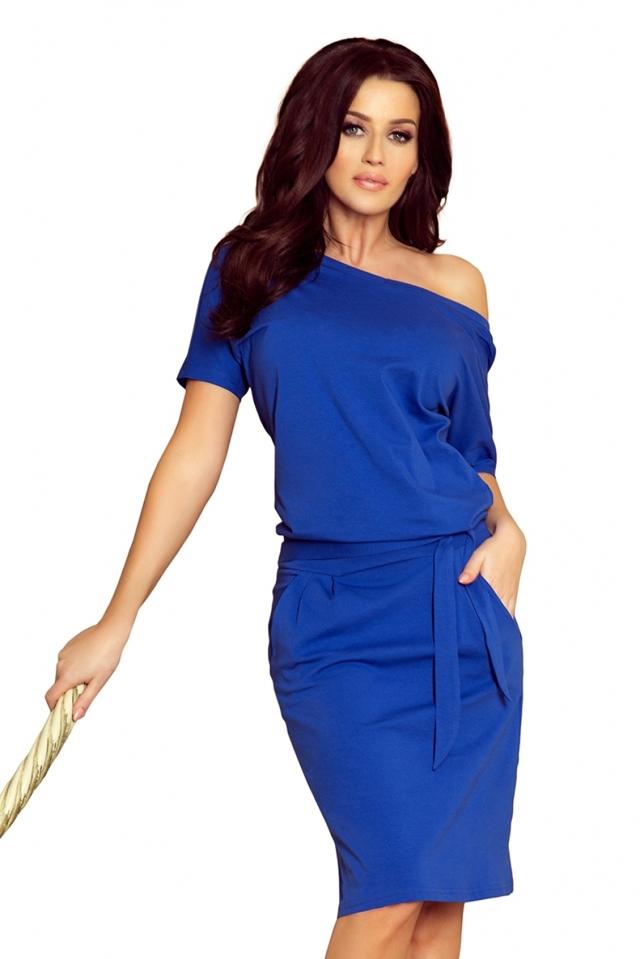 c77bffa3e108 Dámské šaty 249-1 - XL - královsky modrá