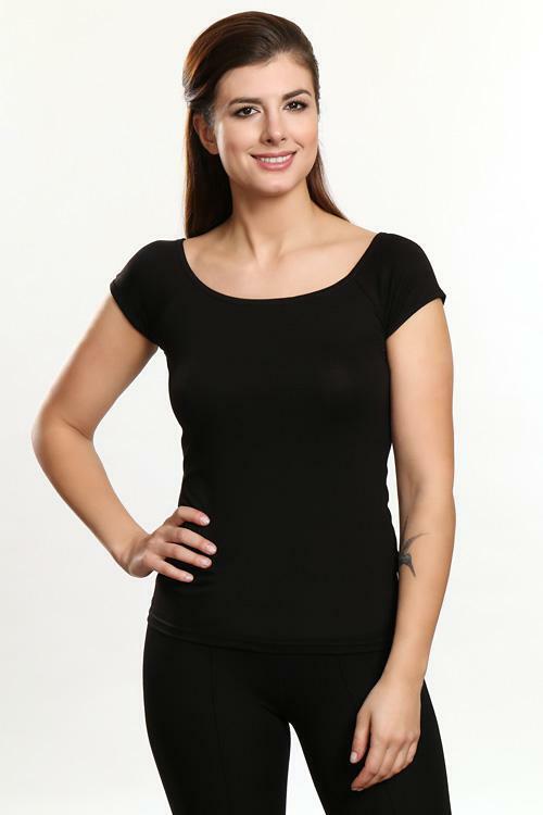 Dámská halenka Violana Aria black - krátký rukáv - S - černá 475357ba89