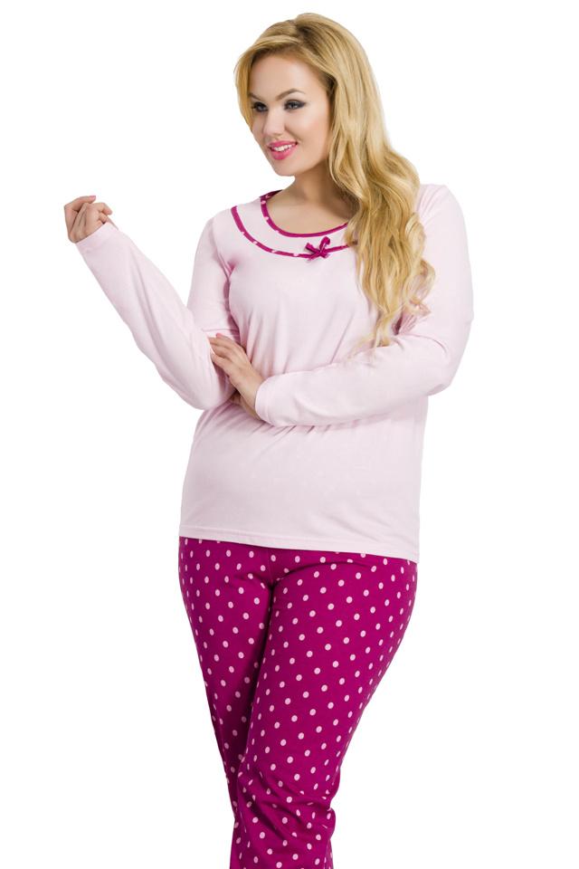 Dámské pyžamo Ismena růžové nadměrná - XXL