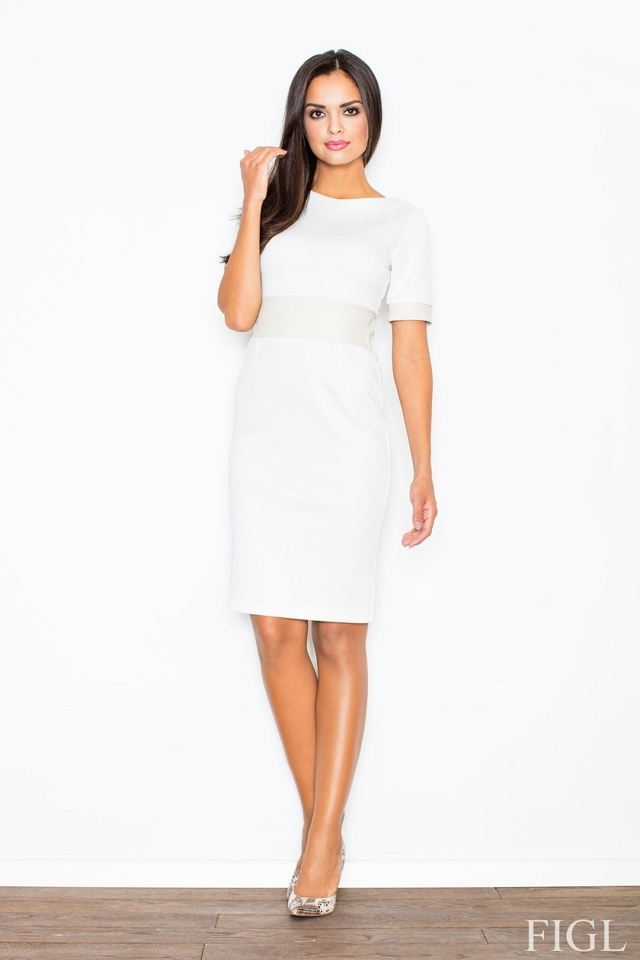 Dámské šaty M204 cream - M - krémová