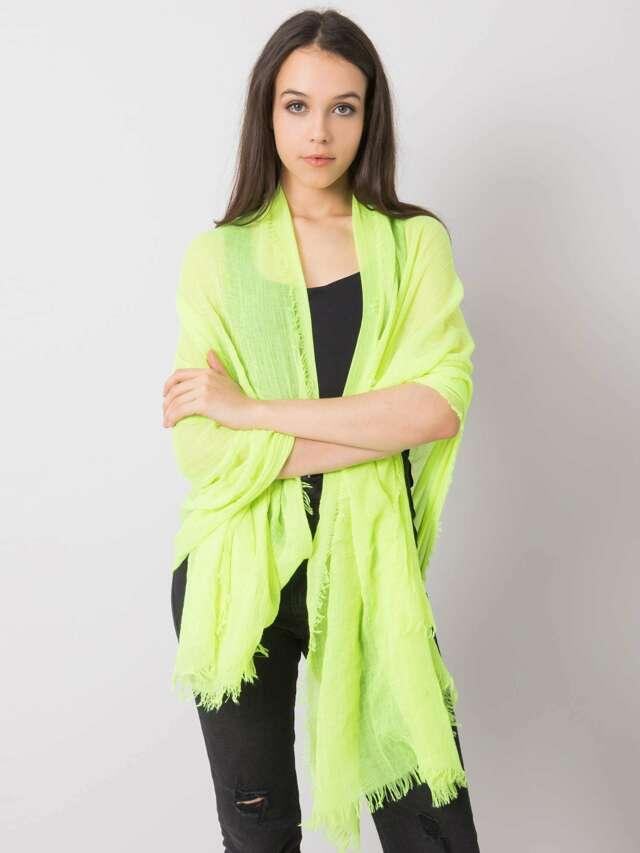Fluo žlutý jednobarevný dámský šátek - jedna velikost