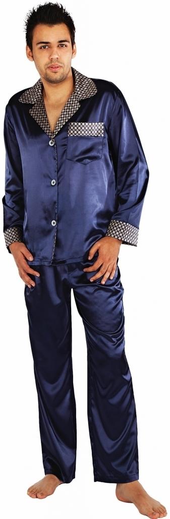 90dabe323ffc Pánské pyžamo satén Adam 939 - De Lafense - M - granátová