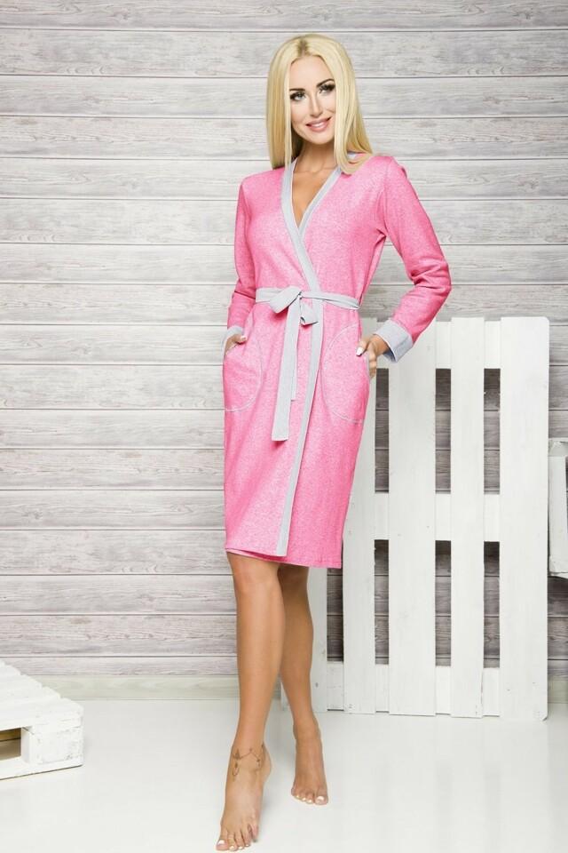 Dámský župan 321 pink - XL - růžová