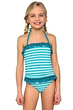 Dívčí tankiny Natálka modré proužky