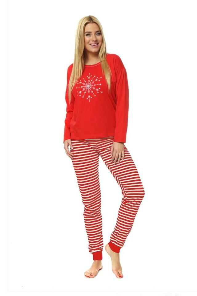 Dámské pyžamo Snowflake - L - červená