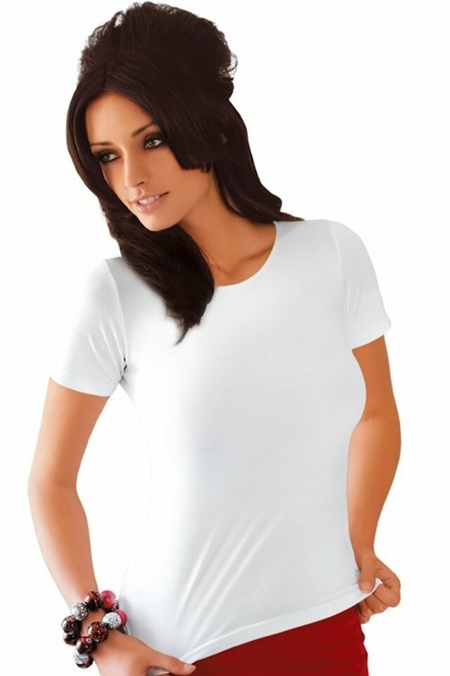 Dámské tričko Carla plus white - BABELL - 3XL - bílá