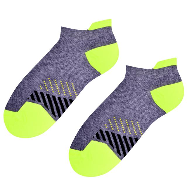 Dámské sportovní ponožky 050 - 38-40 - M.šedá/žlutá