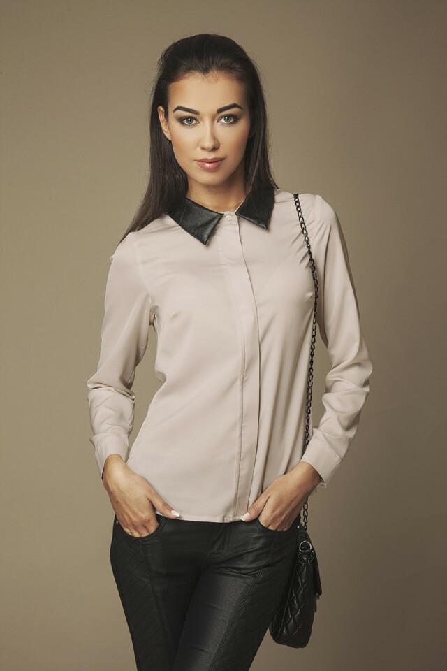 Dámská košile 004 béžová - Ambigante - XS - béžová