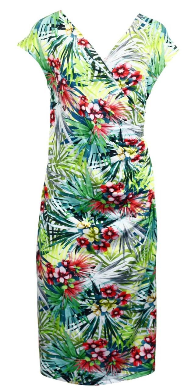Dámské šaty 6267 - Vamp - XS - květinový vzor