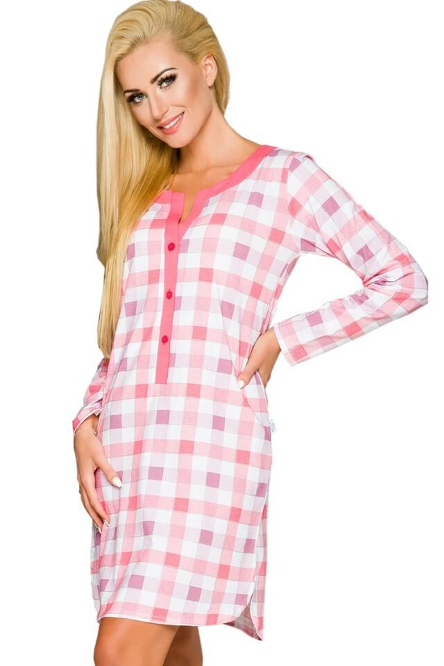 Noční košile Marcela 781 pink - S - růžová