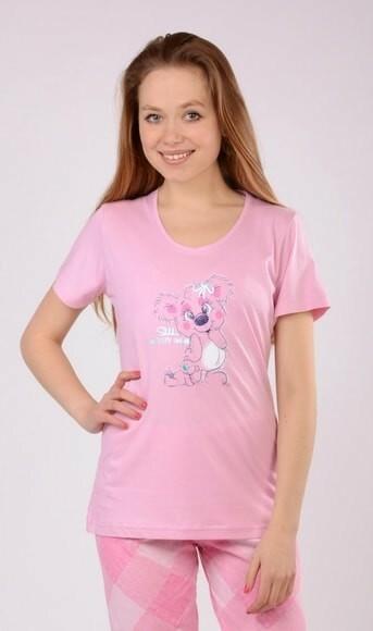 Dámské pyžamo capri Koala - Vienetta - M - růžová