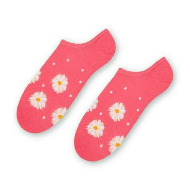 Dámské nízké ponožky 021 - 38-40 - světle žlutá