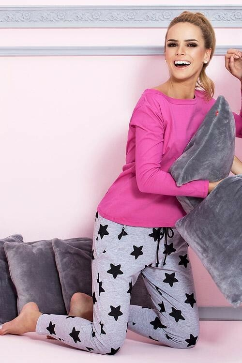 Dámské pyžamo P-504/1 - Pigeon - XL - růžová
