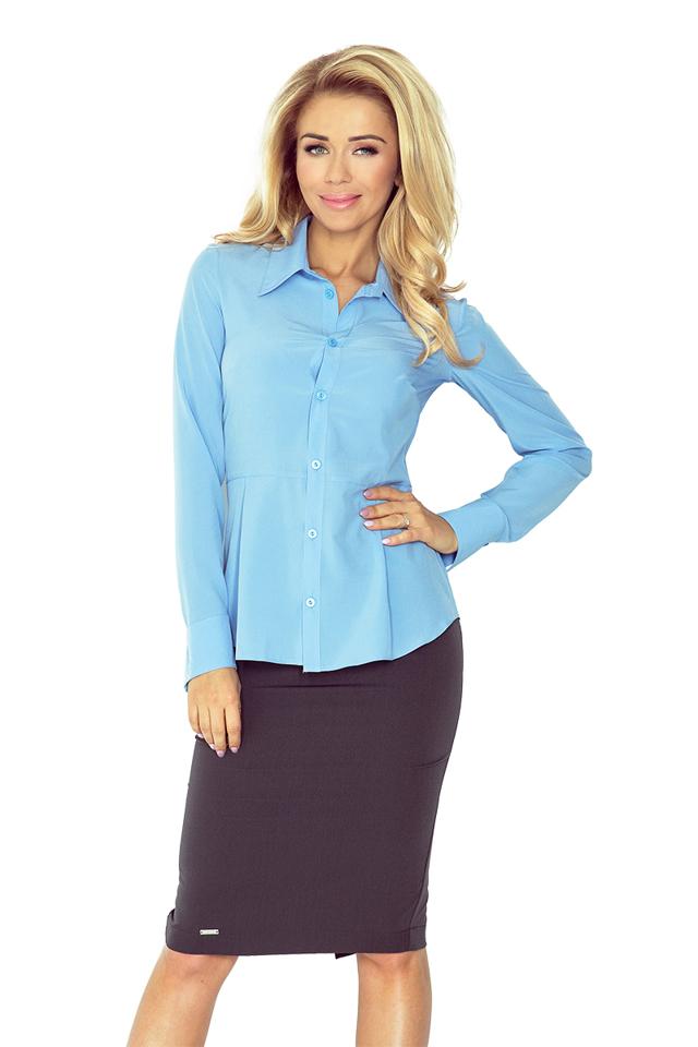 Modrá dámská košile MM 016-2
