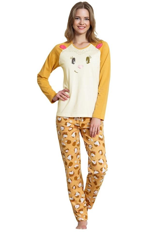 Dámské pyžamo Camille ježek - XL