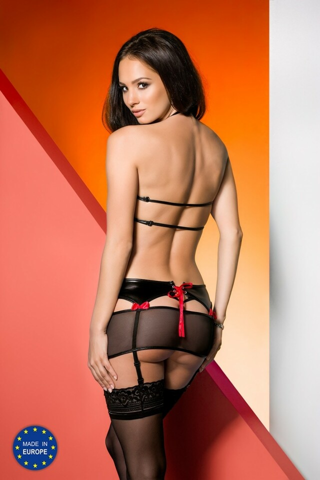 Erotická souprava Libby set - L/XL - černá