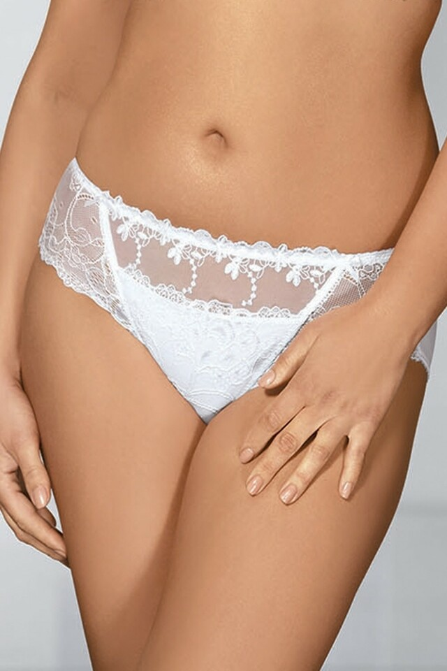 Dámské kalhotky 1030 plus white - XXL - bílá