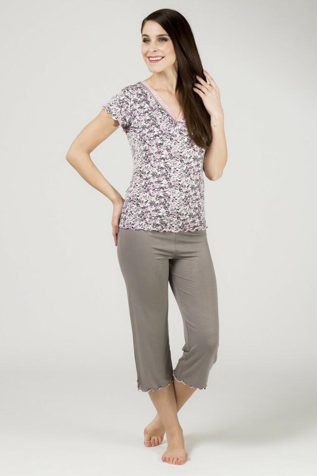 Dámské pyžamo 731 KK - Cocoon - XL - růžovo/černá