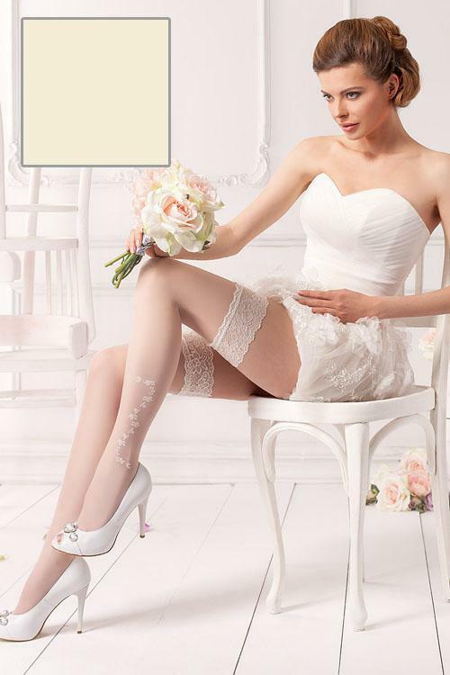 Nadkolenky Wedding Rosalia 04 - Mona - XS/S - vanilka