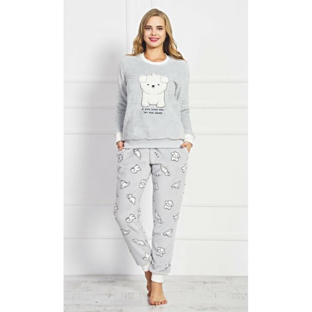 851abbeeff4e Dámské pyžamo dlouhé Štěně - Vienetta