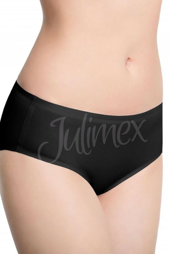 Dámské kalhotky Cotton midi black - M - černá