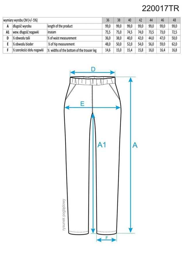 Dámské kalhoty 220017 Ennywear - 48 - černá