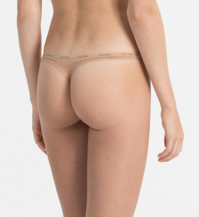 Tanga D3445E-2BU tělová - Calvin Klein