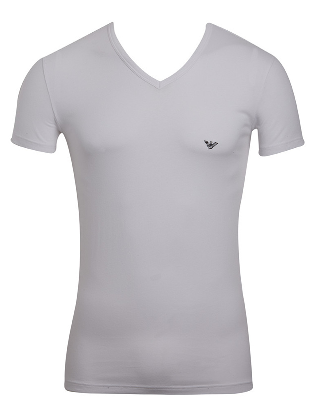 Pánské tričko 110810 CC735 00010 bílá - Emporio Armani