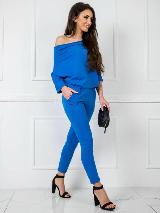 Tmavě modrý bavlněný overal - L / XL
