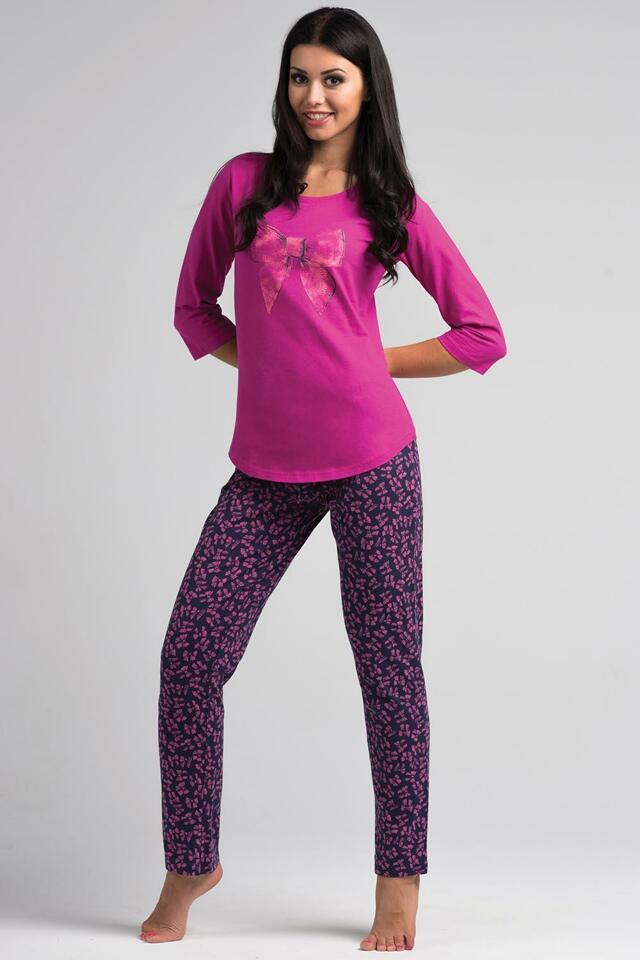 Dámské pyžamo Rossli SAL-PY 1031 - XL - tmavě růžová