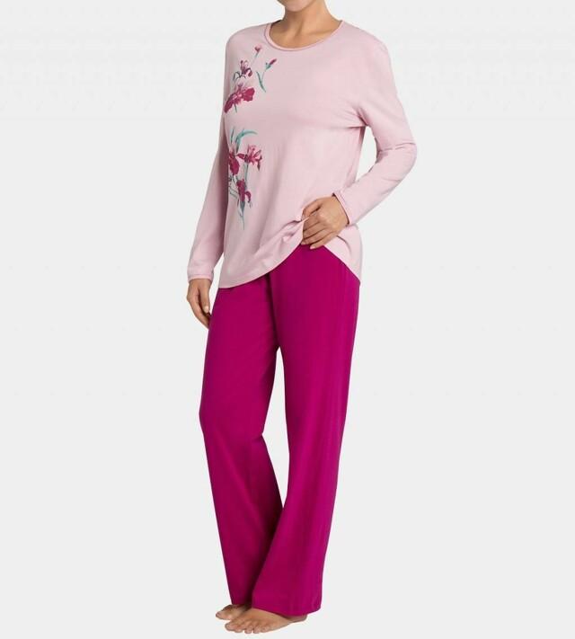 Dámské pyžamo Floral Cotton PK 01 - Triumph - 42 - lupinová (6404)