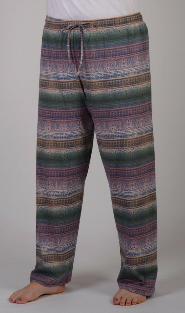 Dámské pyžamové kalhoty Ornament - mocca 3XL