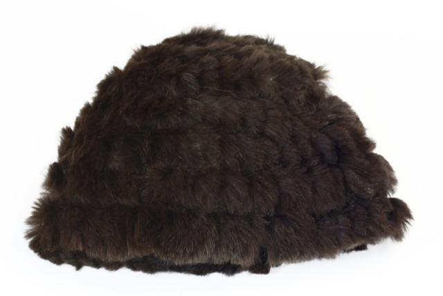 Zimní kožešinová čepice-Gemini