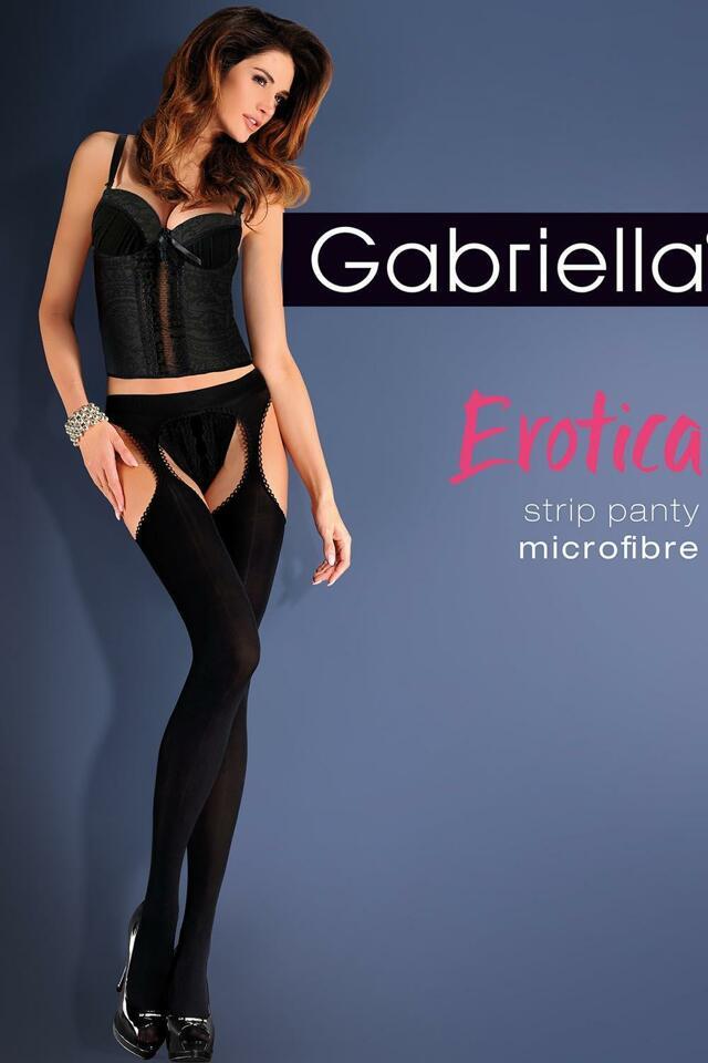 Punčochové kalhoty Gabriella Erotica Strip Panty Micro Code 638