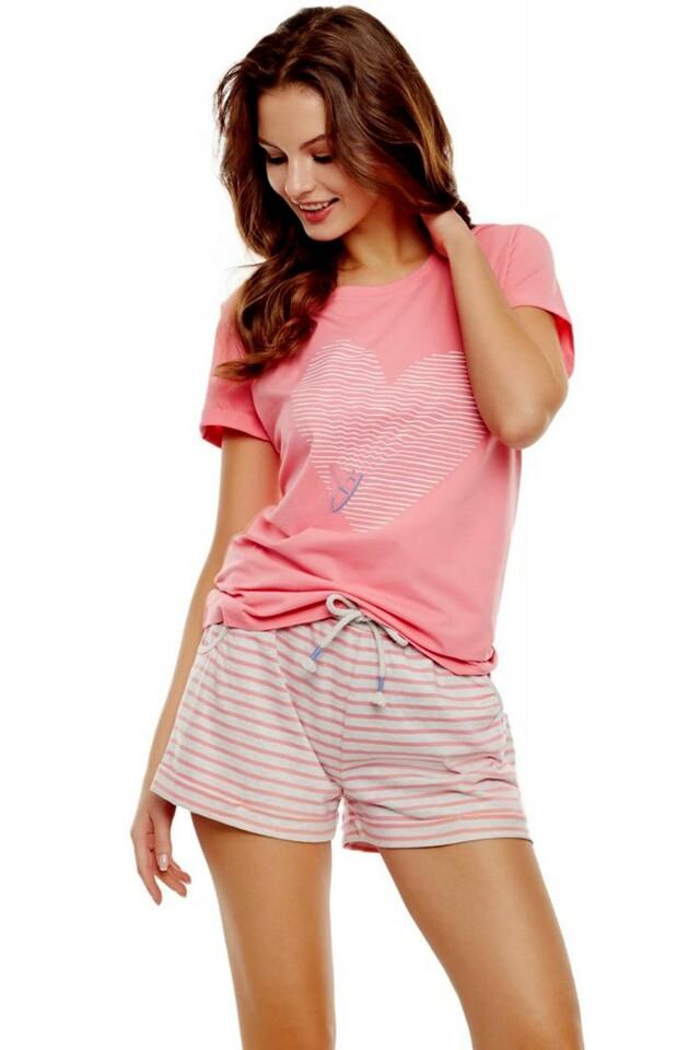 Dámské pyžamo 35911 pink - M - broskvová
