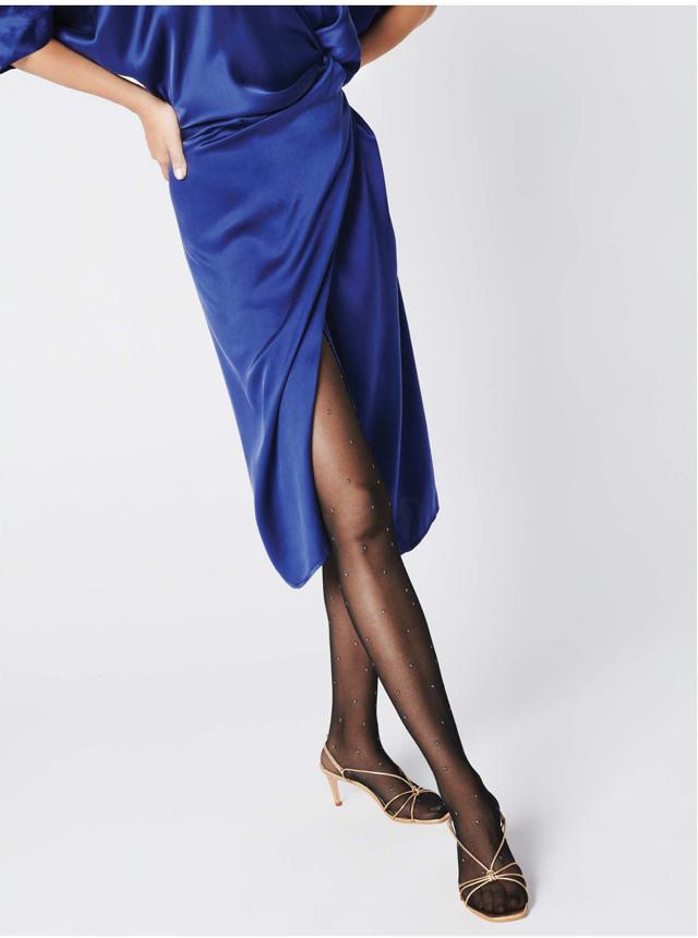 Dámské punčochové kalhoty Fiore G 5891 Aretha Lurex 20 den - 4-L - černá-metalická