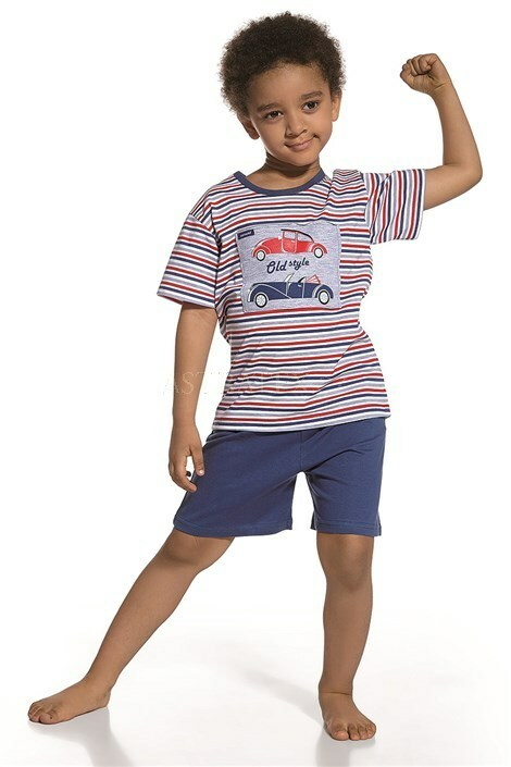 Dětské pyžamo Cornette 789/27 Old style - 122/128 - modro-bílo-červená