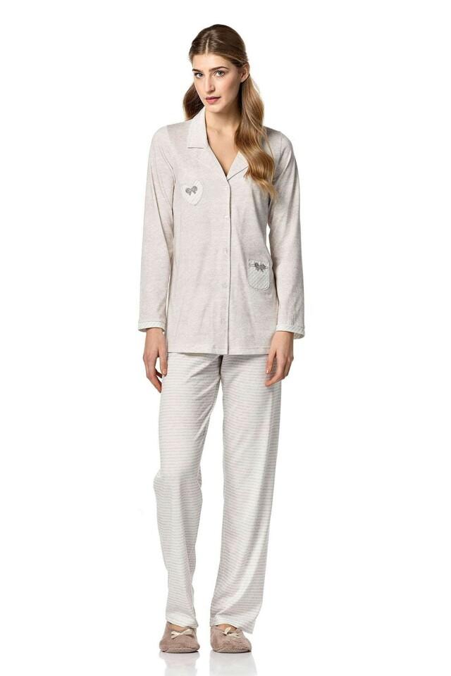 Dámské pyžamo 4749 - Vamp - XL - béžová