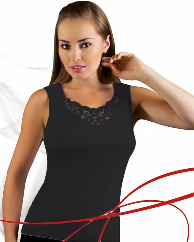 Dámská košilka Berta plus black - XXL - černá