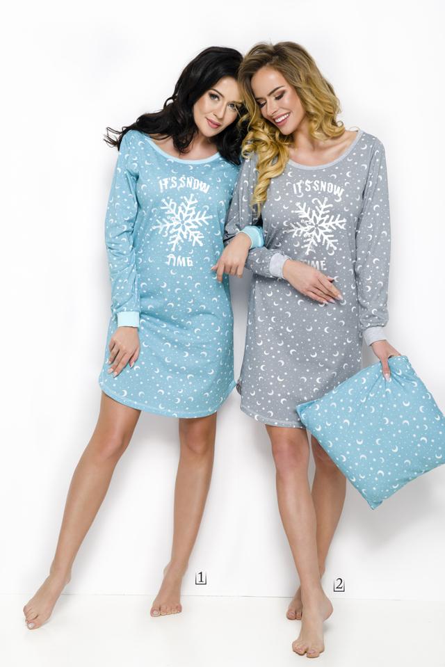 2116 Dlouhá dámská noční košile NORA S-XL - S 75877bddb8