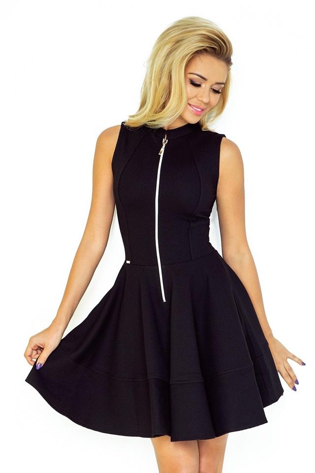 Černé šaty se zipem a kapsami 123-10 - M 5b805ac618