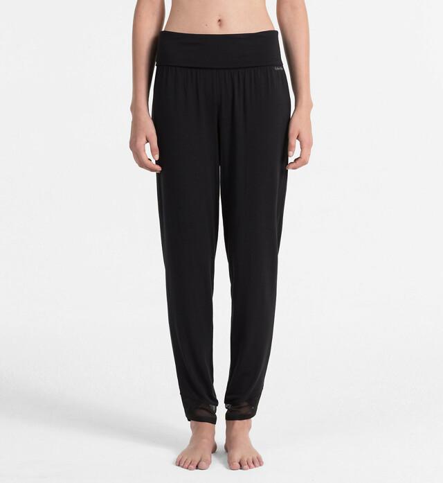 Dámské pyžamové kalhoty QS5781E - Calvin Klein - S - vínová