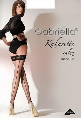 Punčochy Gabriella kabaretka 155 - 3/4-M/L - černá