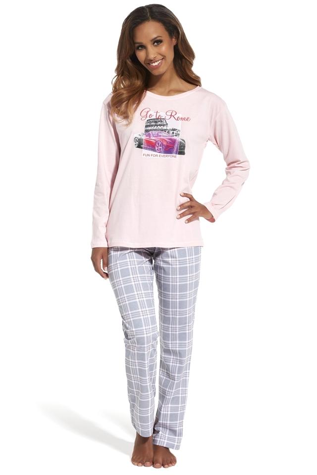 Dámské pyžamo 655/126 Go to Rome - S - růžová
