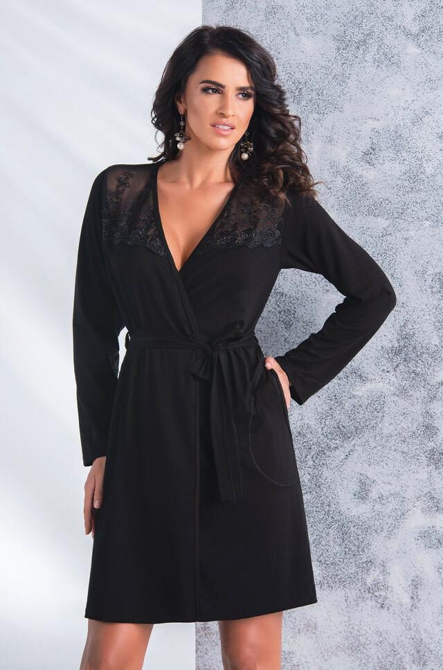 Dámský župan Donna Paloma - XXL - černá