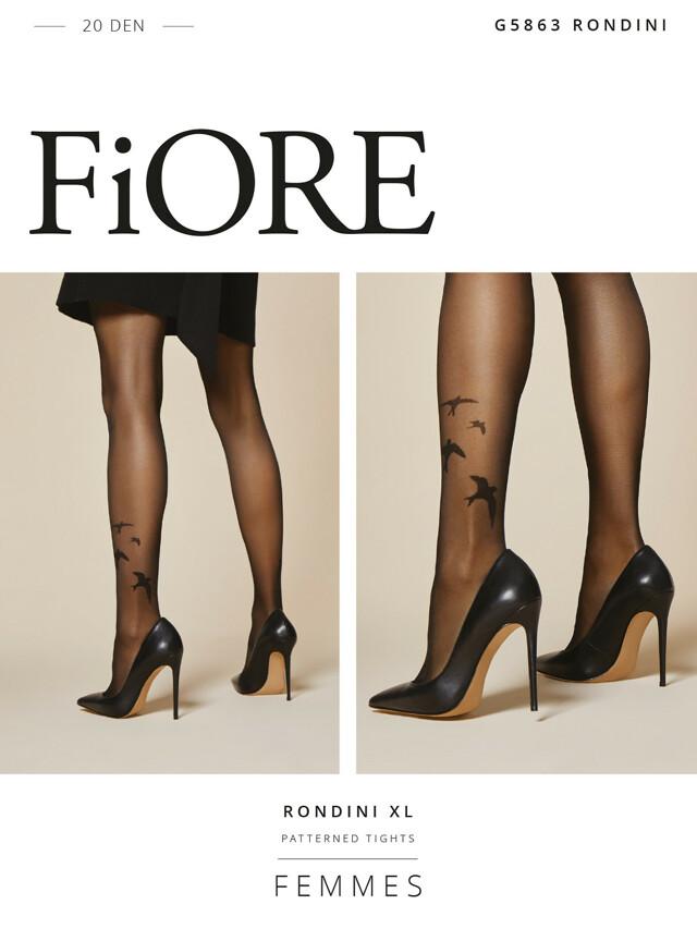 Punčochové kalhoty Fiore Rondini G 5863 20 den 5XL - 5-XL - light natural-black/béžová-černá