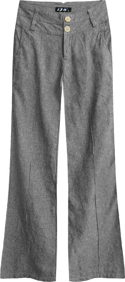 ed2b29f431 Tmavě šedé zvonové kalhoty (X2505X) - XL (42) - šedá