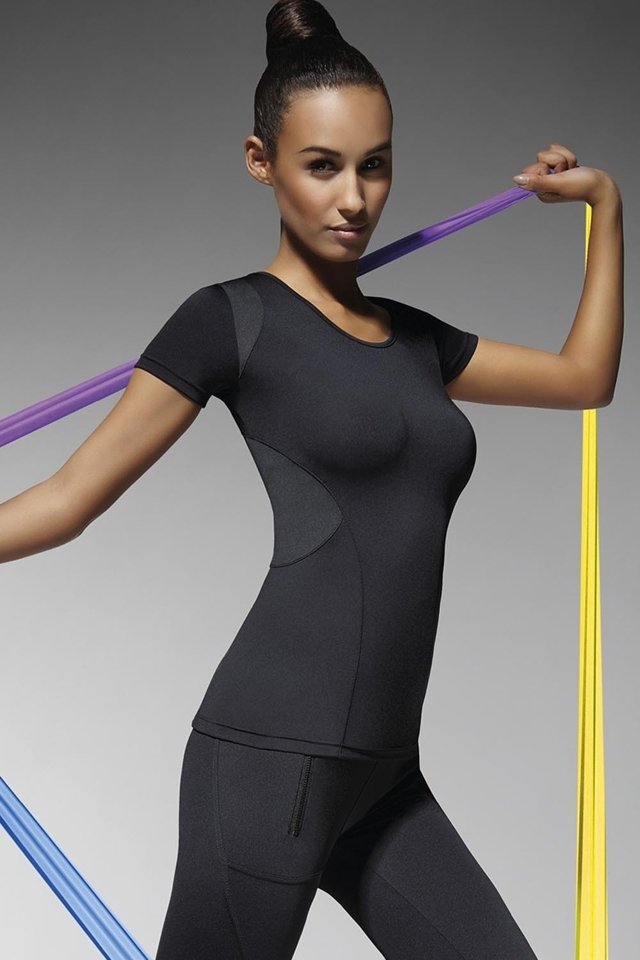 Fitness tričko Electra - M - černá